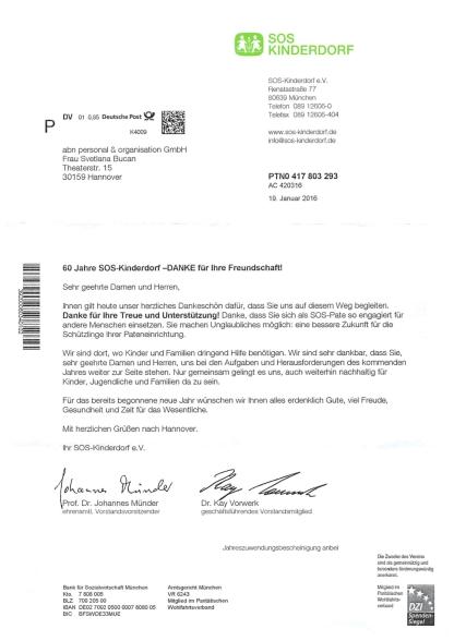 SOS_Kinderdorf_Dankschreiben_Januar2016