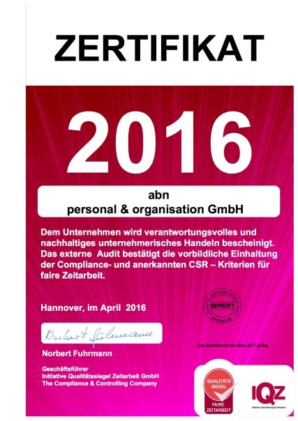 abn zertifikat 2016