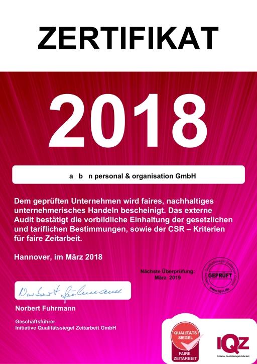 IQZ Siegel 2018