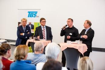 10 Jahre Service-Hotline Zeitarbeit und Werkvertrag Podiumsdiskussion vl: Werner Stolz - iGZ, Wilhelm Oberste-Beulmann - BAB, Marc Albien VWPD, Jürgen Grumbach - TBS,