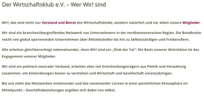 Der Wirtschaftsklub e.V. - der-wirtschaftsklub.de