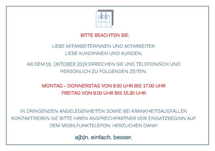 Büro-Öffnungszeiten_ab 01.10.2019